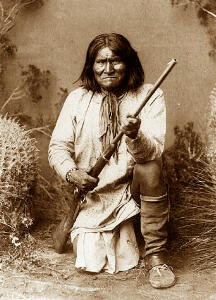 Chief Geronimo, great leader of the Apache indina tribe of Arizona