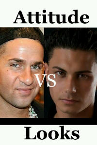 Mike The Situation (left), Pauly D (right): attitude vs looks.