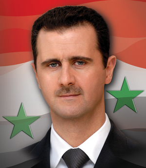 President Doctor Bashar Al-Assad (the lion) of Syria