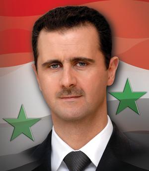 President Doctor Bashar Al-Assad (the lion) of Syria
