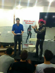 AFC Adam being presented a certificate from VK for best entourage & social-circle game