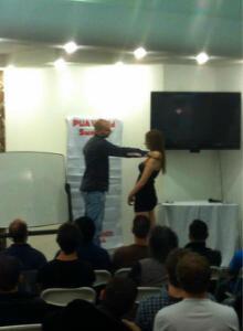 Dan the Bad Boy demonstrating Kino (touching)