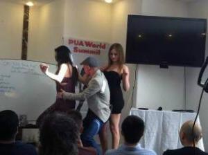 Chi demonstrating dance-floor game