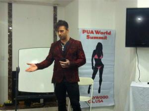 Nick Hawk of Showtime's Gigolo giving a presentation