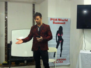 Nick Hawk of Showtime's Gigolo giving a presentation