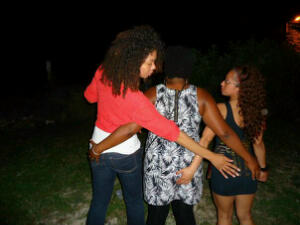 I took this photo almost a year ago of the shorty and her 2 friends at the club the night we'd met