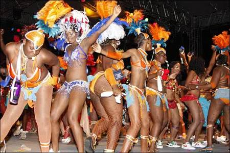 This was taking place inside the festival grounds (photo from Antigua Carnival 2013)