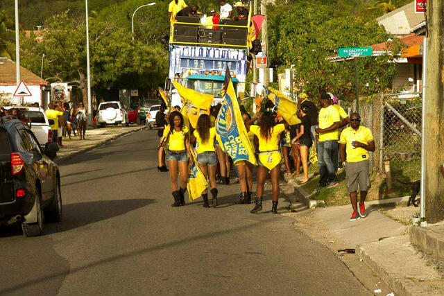Roaming beer promotion throughout the island of Antigua for the Carib beer company