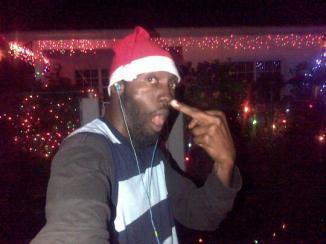 Friday night playing santa...