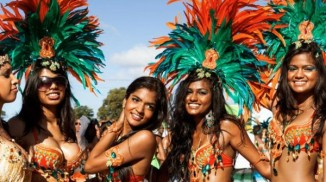 East Indian women Across the Caribbean
