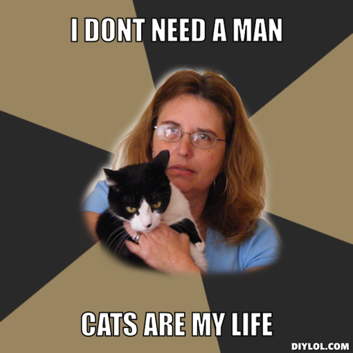 Woman single cat