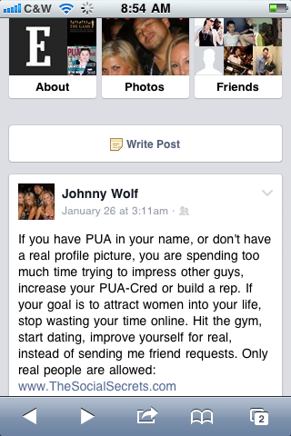 Johnny-wolf-pua-status